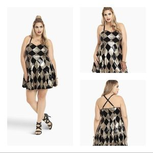 TORRID HARLEY SEQUIN SKATER DRESS